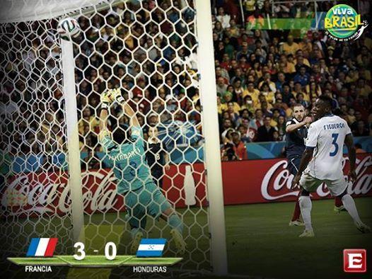 #VivaBrasil El partido del domingo 15 de Junio en el Beira Río Francia 3-0 Honduras #Mundial2014