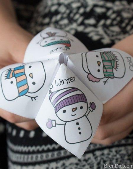 Snowman Joke Tellers Folded