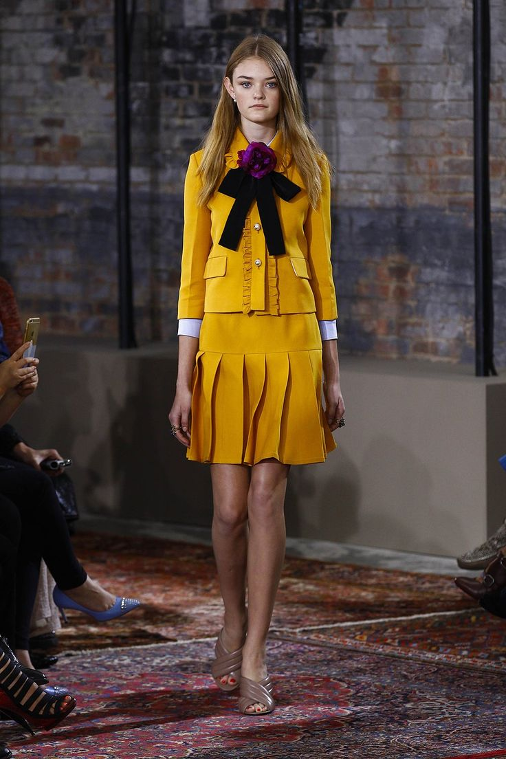 Gucci Resort 2016 Runway. Recently yellow has just seemed so chic.