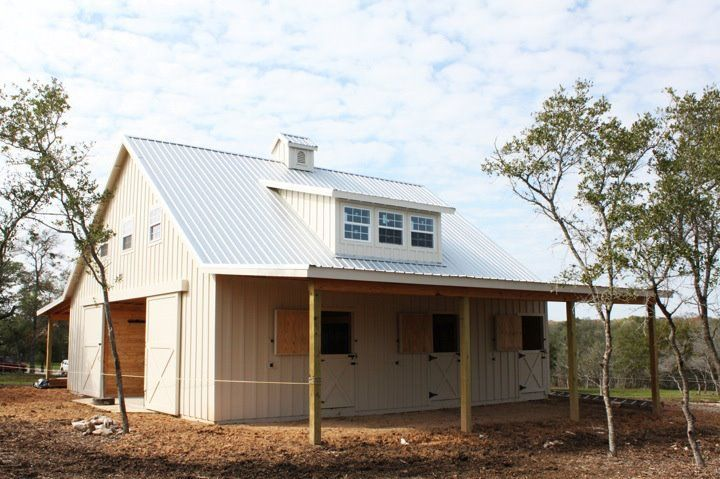 Metal Barns With Living Quarters Plans