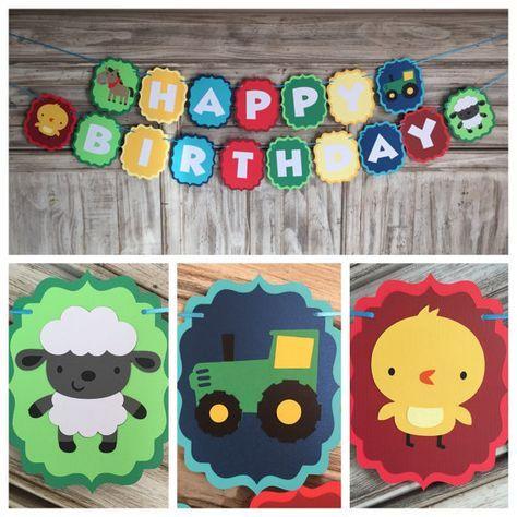 Farm Banner  Farm Birthday  Farm Baby Shower  by EricasCrafties