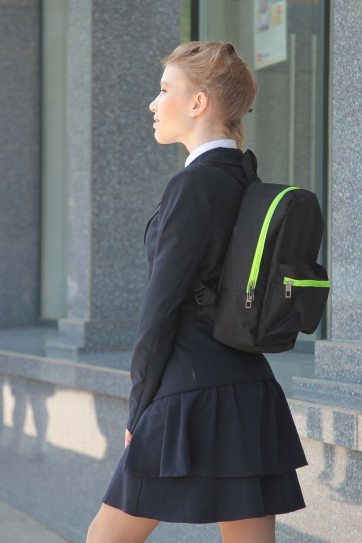 backpack,the black ,yellow,female,teenager by Lightbackpacks on Etsy