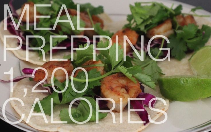 How to prep meals for the week, all under 1,200 calories a day!