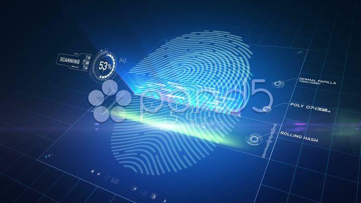 Modern biometric finger print scanner - Stock Footage   by hooverphonic