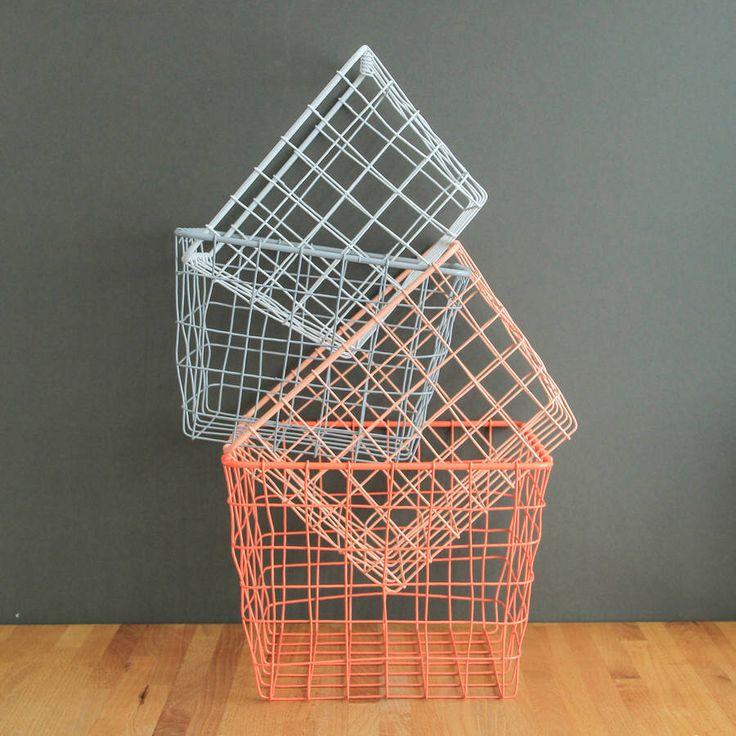 I've just found Four Small Storage Basket Nest. A nest of four wire storage baskets.. £39.00