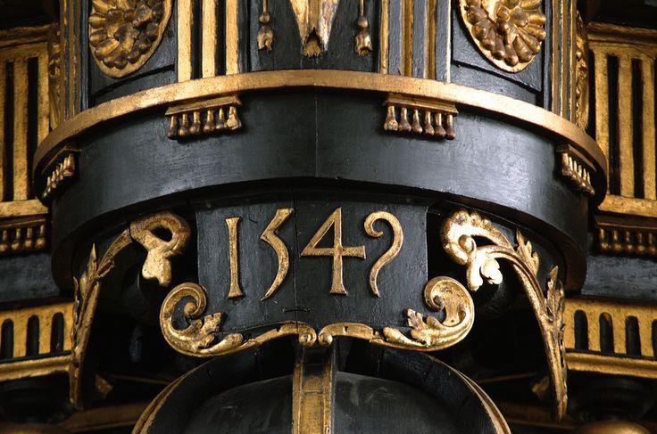 Enkhuizen, Noord-Holland, Westerkerk, organ, rugwerk, detail. The organ is dated 1549 & is ascribed to Hendrik Niehoff. by groenling on flickr