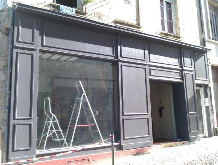 Façade magasin en peinture