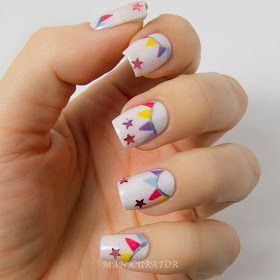 manicurator: Bunting Nail Art