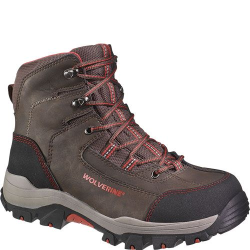 Men's Wolverine 6 inch Bucklin Peakflex Waterproof Composite Toe EH Hiker  Work Boots, Brown, Size: US
