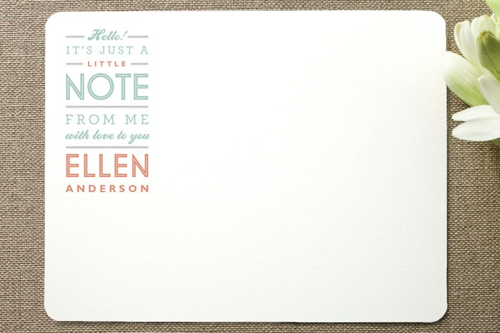 Little Note Personalized Stationery by Moglea at Minted.com