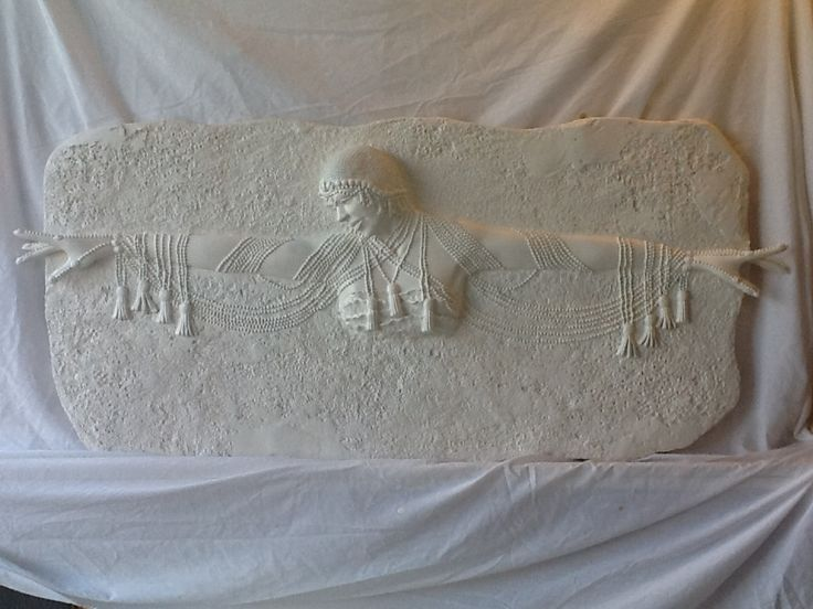Plaster high relief wall sculpture sculpted wall panel for Plaster wall art