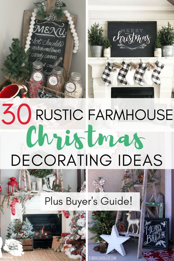 30 Rustic Farmhouse Christmas Decorating Ideas | Holidays ...