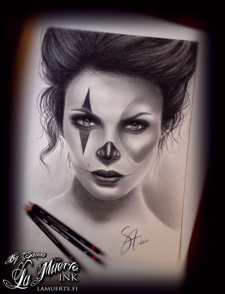 Chicano / muerte woman potrait by Sanna Angervaniva @ La Muerte Ink