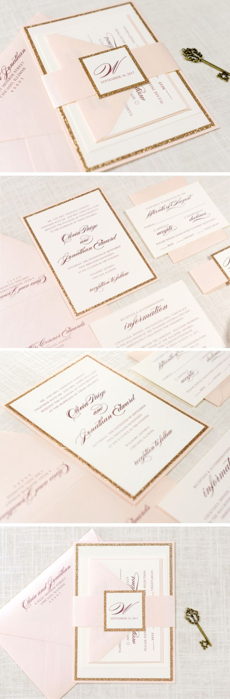 25+ best ideas about ivory wedding invitations on pinterest, Wedding invitations