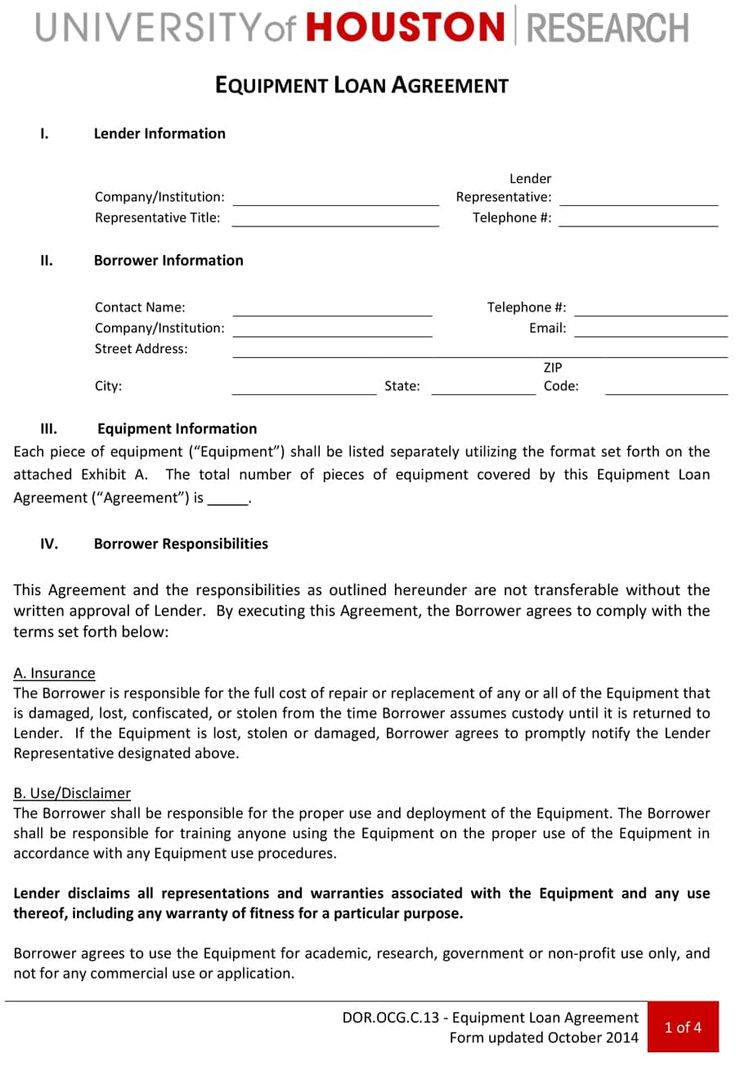 14+ Loan Agreement Templates Word, Excel & PDF Templates