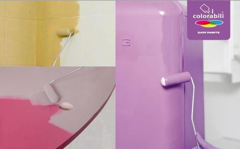 Pitturare verniciare rinnovare  le piastrelle, mobili in laminato, mobili in legno, elettrodomestici, armadi, scrivania, pensili della cucina.
