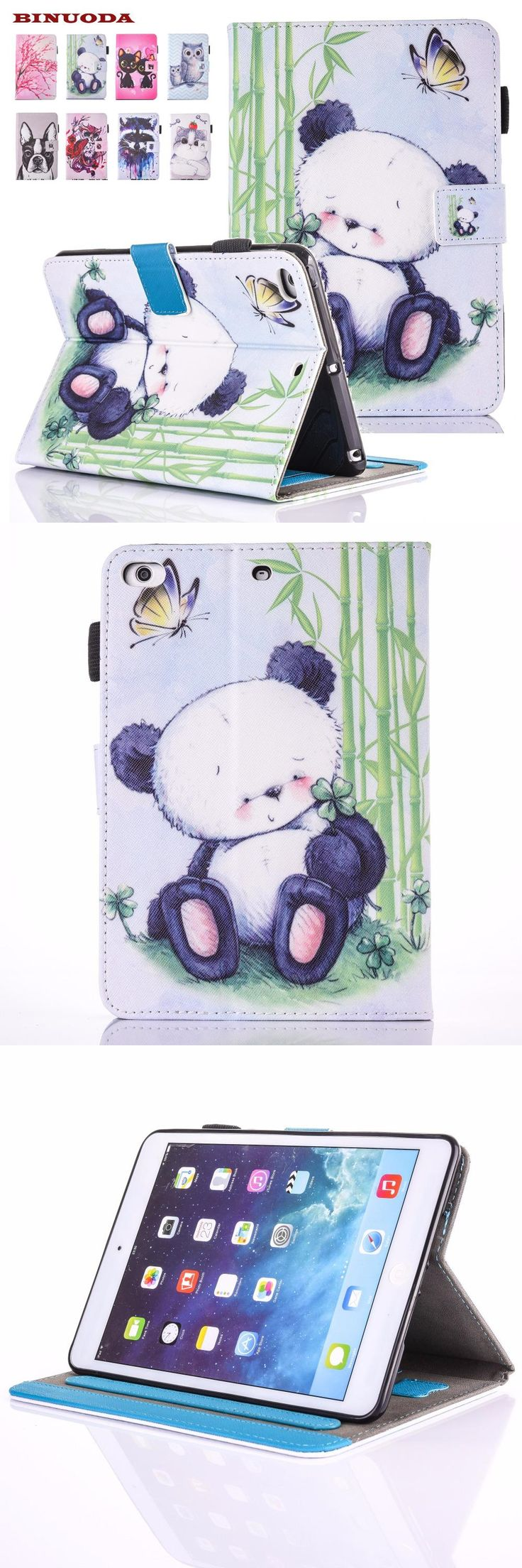 [Visit to Buy] For iPad 9.7 2017 Cover Case Cute Giant Panda PU Leather Folio Flip Smart Stand Wallet Case for New iPad 9.7 2017 Release Tablet #Advertisement