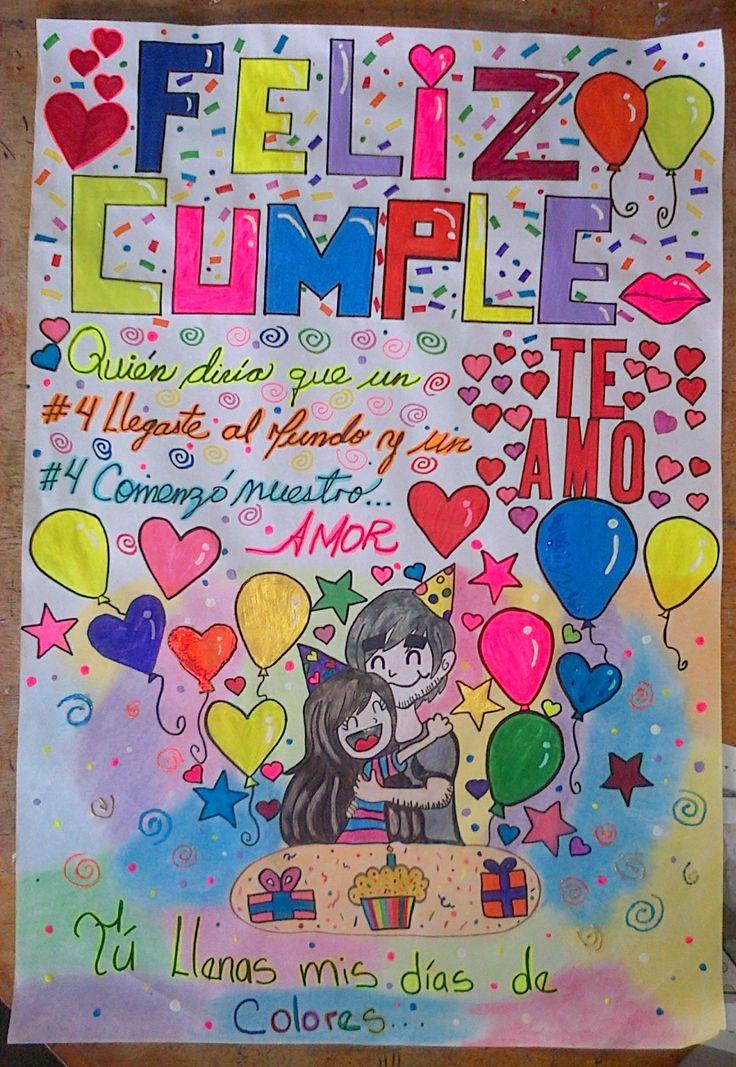 Pancarta de feliz cumpleaños súper romántica! Contacto whatsapp 0414-9758612 #cartasromanticas