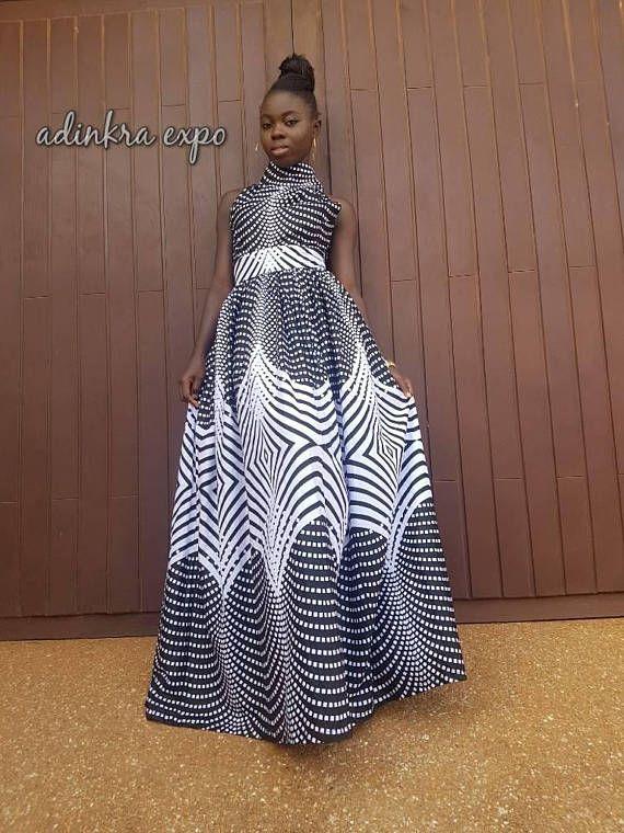 Kadi African Print Maxi Dress/ african dress Ankara Dress /