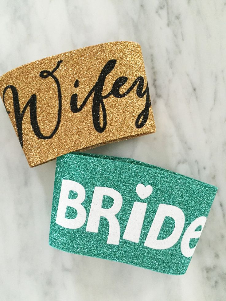 bride coffee cozy, wifey coffee cup sleeve, glitter coffee cozy, pretty wedding day coffee cup sleeve, glitter coffee mugs, bridal party cup by myeverydayparty on Etsy