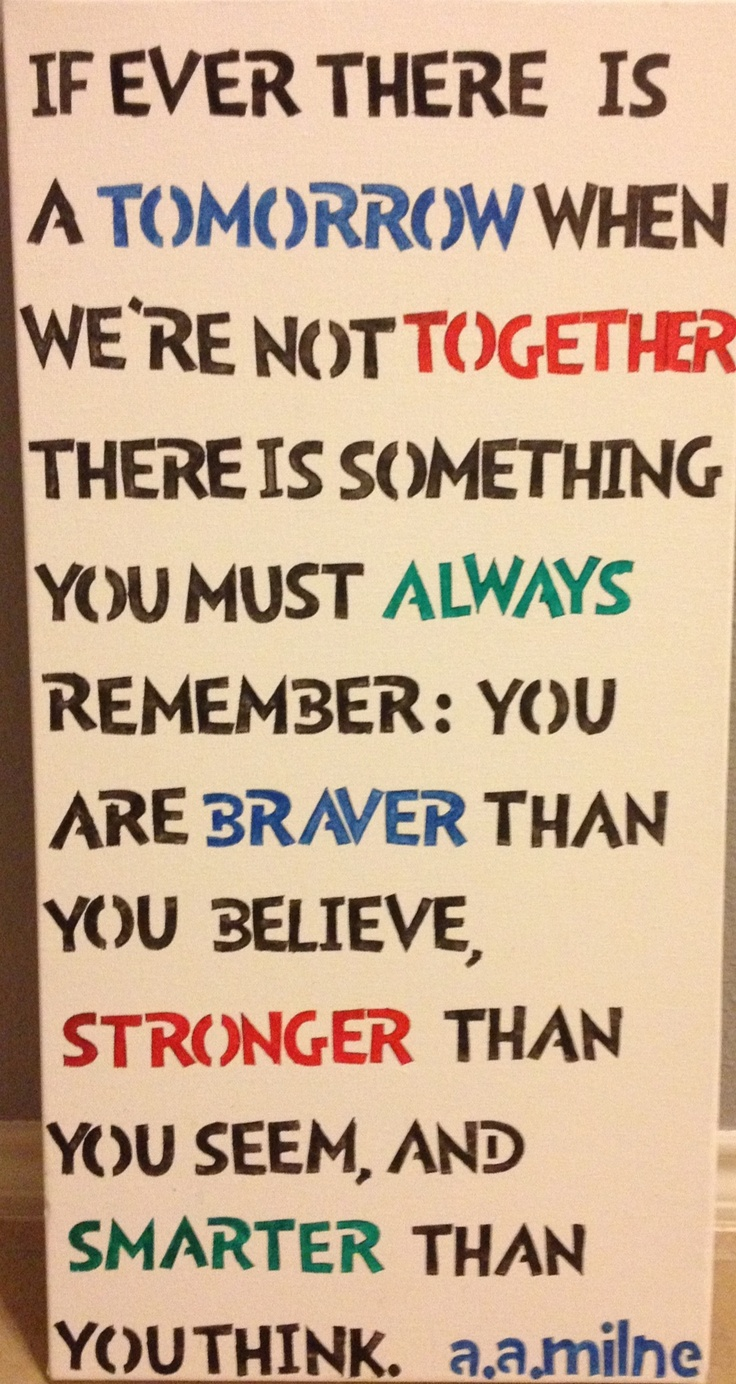 A.A. Milne quote for my son