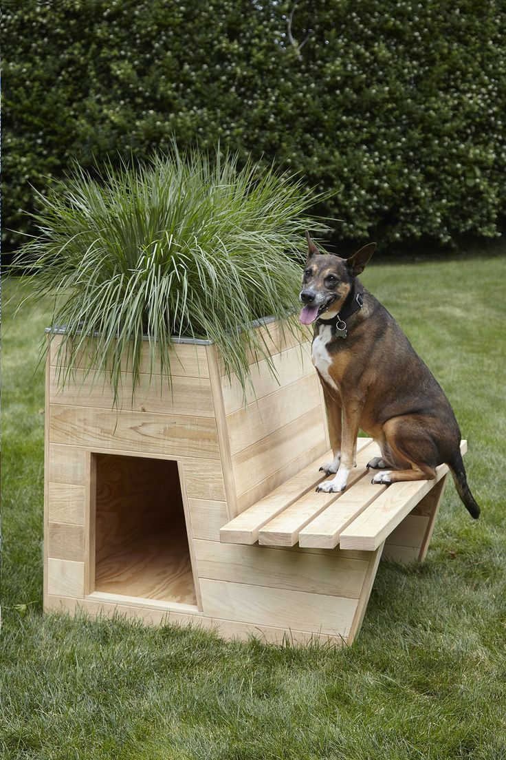 10 Architects Create Stylish Doghouses For A Good Cause Cool Dog Houses Dog Houses Pallet Dog House