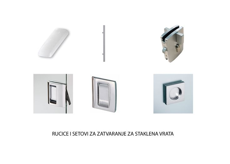 Handles and lock kits for ECLISSE sliding glass door panels
