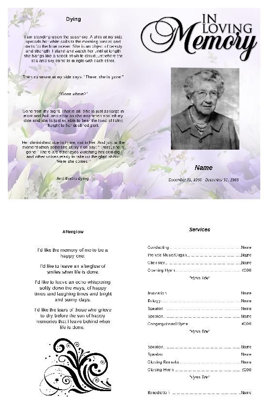91 best Funeral Program Template images on Pinterest Christmas - free funeral program templates for word