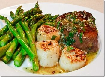 Steak and Scallops: A 30 minute Sweetheart Dinner.