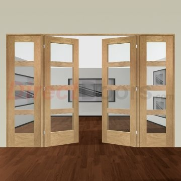 Image of Easi-Frame Oak Door Set, GOSHA4L-COEOP8, 2005mm Height, 2976mm Wide.