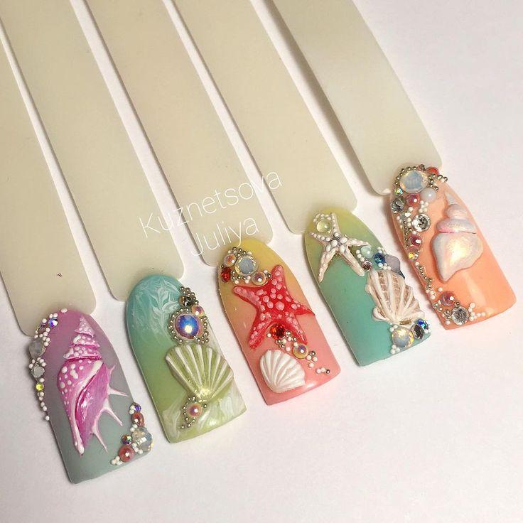 Gorgeous seaside nails!!!!!!!!!
