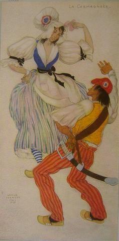 1937 French Dance Poster, La Carmagnole - Ivanoff