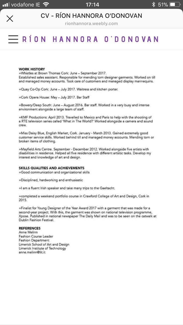 Kitchen Porter Sample Resume Pinkeep Blossoming On Cv Weebly Website 3Rd Year 3Yr  Pinterest