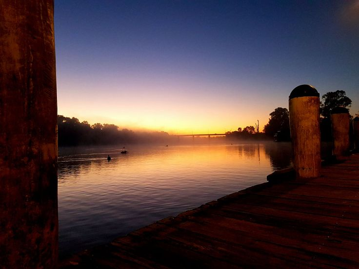 """Thanks to Joanna Brodie who said this about her pic """"Love the Murray River. Visting from Portland Victoria & took some sunrise pics #Mildura"""