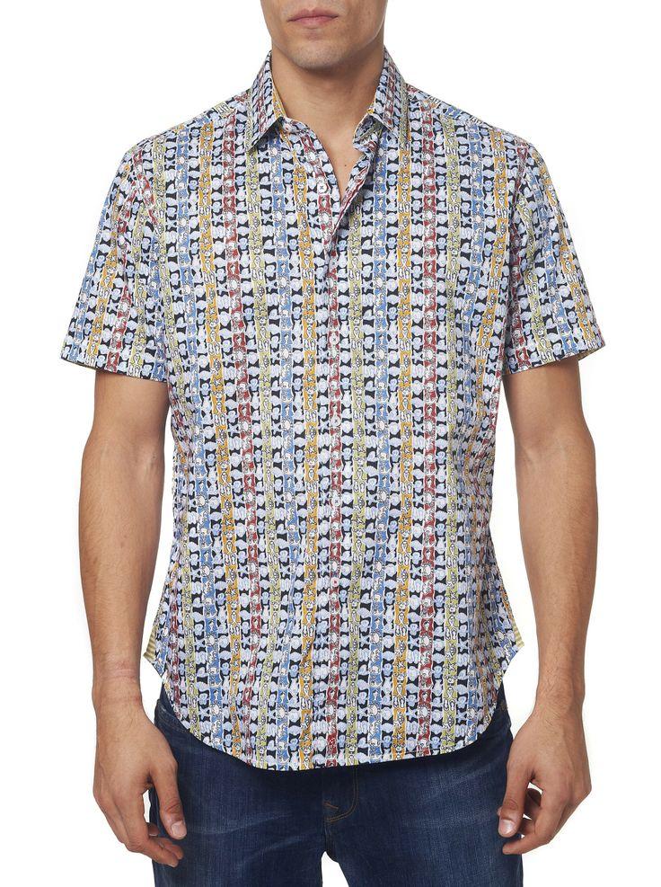 Robert Graham Caicos Short Sleeve Sport Shirt #mondouomo #naples #fashion  #men