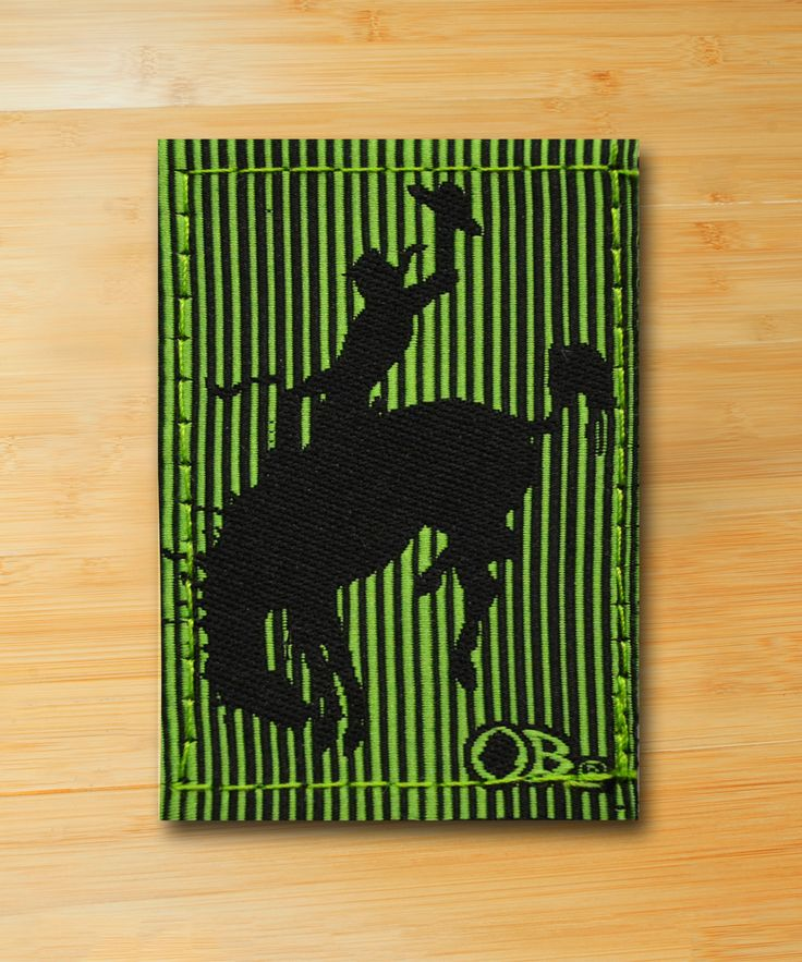 Yeee-haw! Check out this cowboy label from Dime Bags. Personalize your Dime Bag with this changeable Velcro pouch!