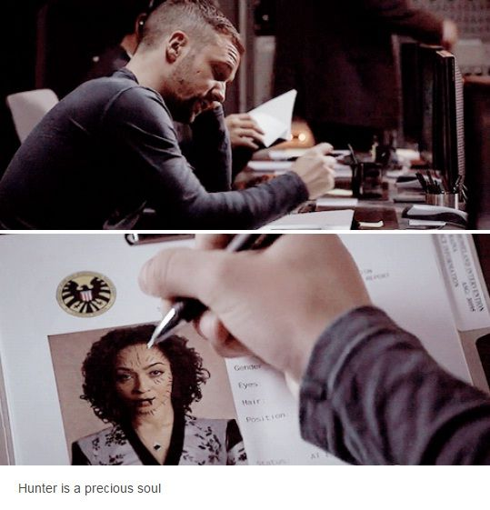 """Hunter is a precious soul #Marvel Agents of S.H.I.E.L.D. #AoS #AgentsofSHIELD 2x20 """"Scars"""""""