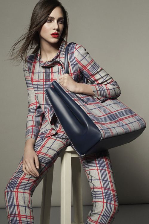 "La collection ""Spring Tartan"" de Giorgio Armani   Vogue"