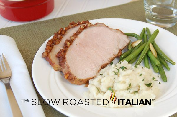 Spicy Walnut Apple Butter Pork Loin | food | Pinterest