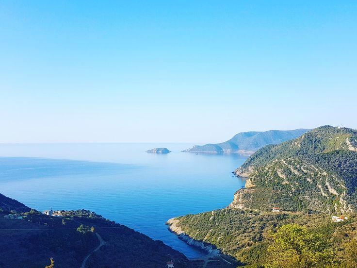Endless blue...☀ Old village of Alonissos....🏘 🌍 www.angelosalonissos.com #angelos_apartments #alonissos #sporades #greece #summer2017
