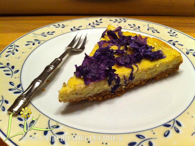 FATTORIA DELLE ERBE: CHEESECAKE CON LAVANDA E MALVA - #mallow #lavandel #lavanda #malva #fiorieduli #edibleflower #cheesecake