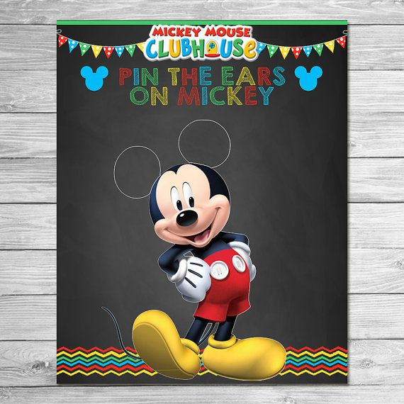 Mickey Mouse Clubhouse Pin the Ears on Mickey by ItsACowsOpinion