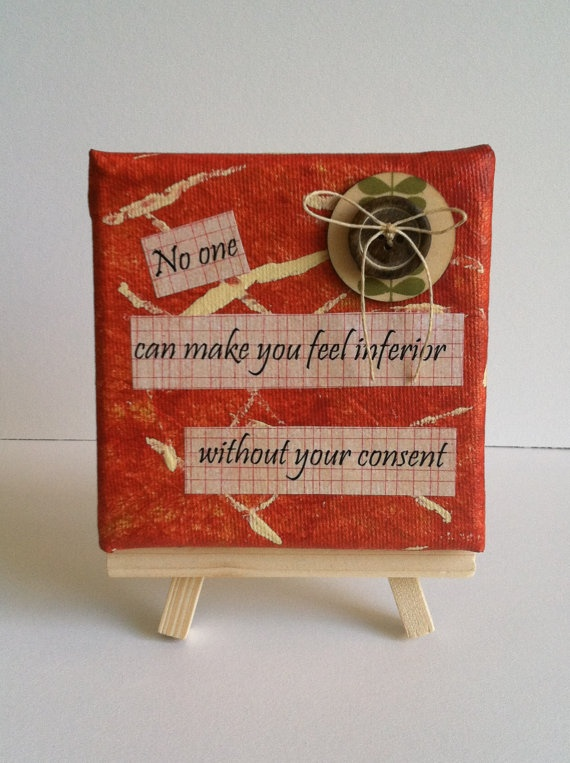 Small canvas art mixed media mini easel by osbornemixedmedia, $20.00 #quotes
