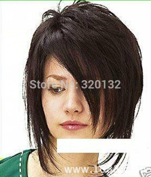 Стиль! парик Новое Очарование женские короткие Шатен Натуральных Волос Парики нет кружева Kanekalon парики Волос королева тела