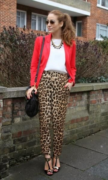 Look Red & Animal Print - Moda it   Moda It