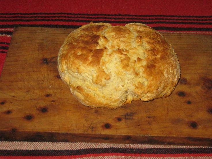 Freshly baked Australian Damper bread