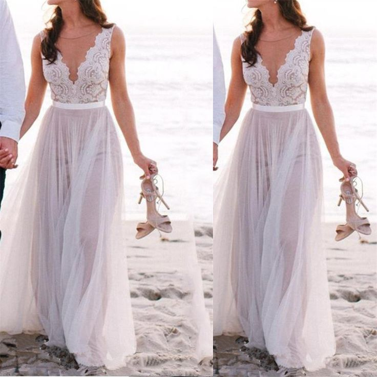 A Line Floor Length Sleeveless Beautiful Illusion Neckline Lace
