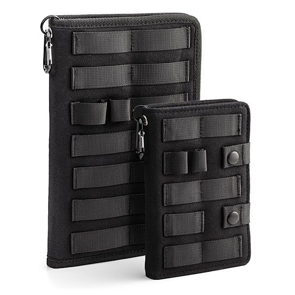 Do you want a notebook that's tough? This TGX Tactical Notebook will stand up to zombie attacks and other extreme situations. This is a notebook for war.  It is extremely durable with integrated MOLLE straps allow for standard attachments. Now you can take notes as you fend of zombie hord