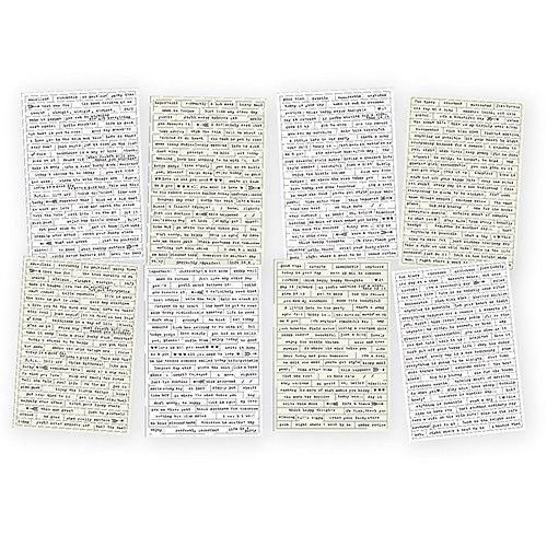 SIMPLE STORIES: CARPE DIEM Posh Word Label Stickers