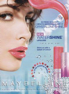 MAYBELLINE WaterShine Lip Gloss - Λιπ Γκλος με Βιταμίνες από την Maybelline - 5ml :: mycosmetics discount